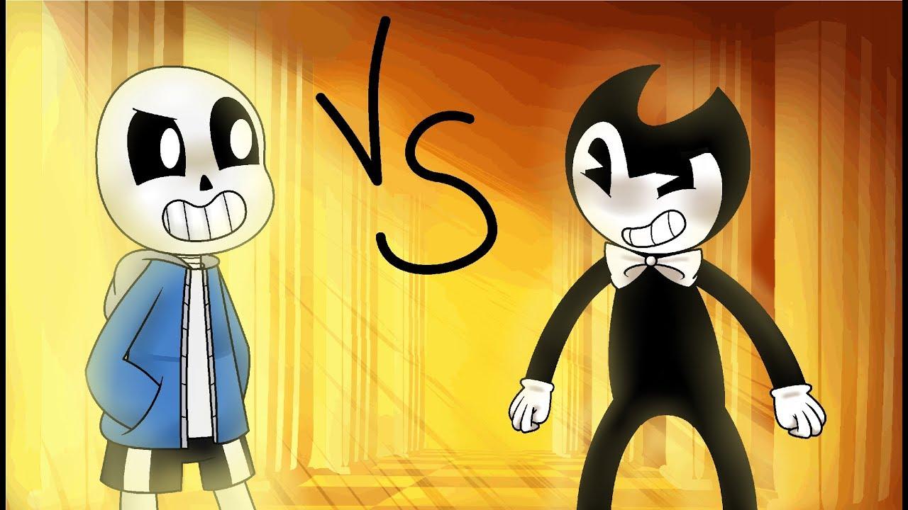 animation sans vs bendy undertale vs batim youtube