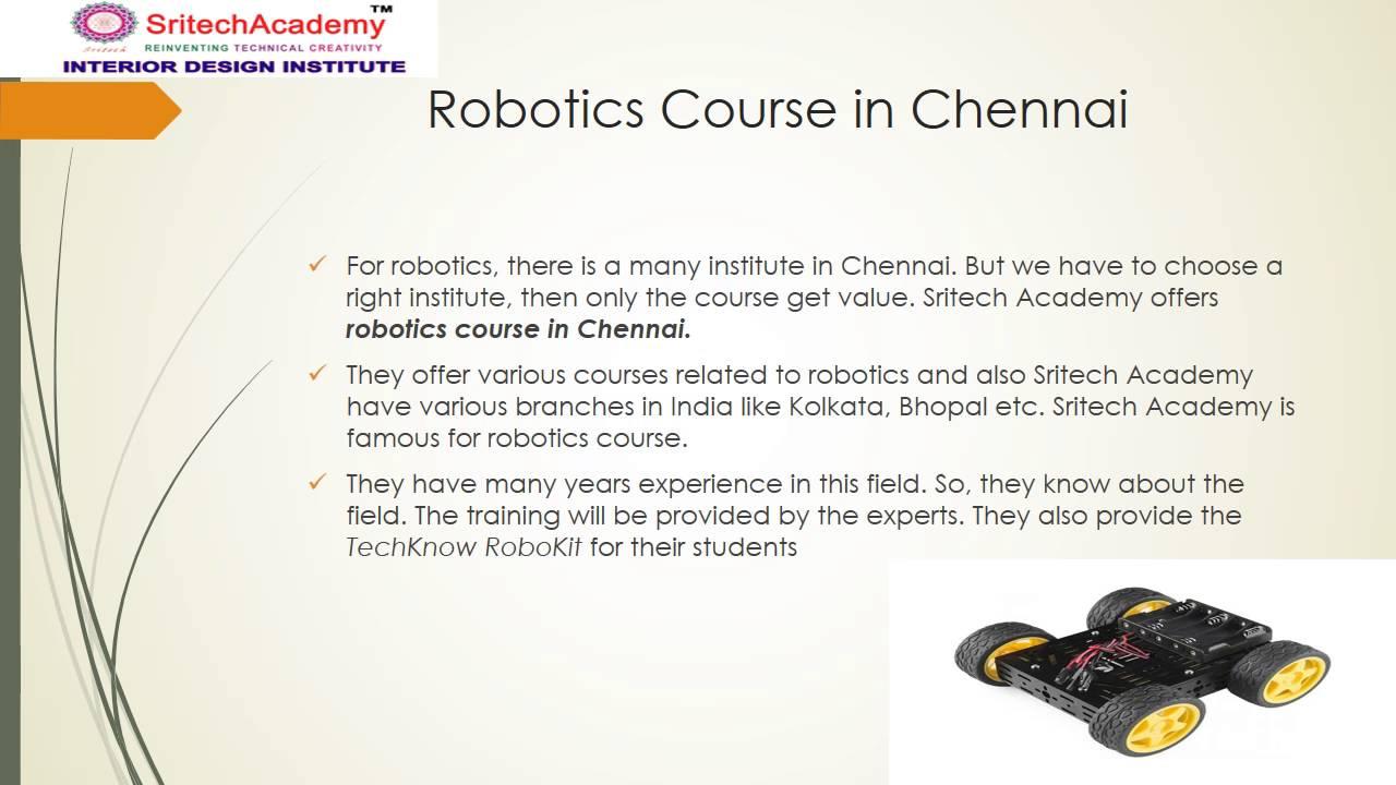 Sritech Academy Robotics Course In Chennai Interior