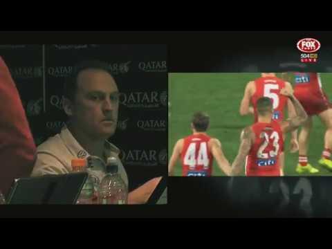 Coaches Box - Last 30 seconds of Sydney Swans v Essendon Bombers Round 14 2017