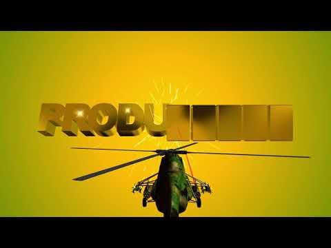 Футаж для начала фильма. Вертолёт выбивает на установленных мишенях 3D титры: PRODUCTION