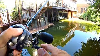 FISHING UNDER A HOUSE??? - Guess the Weight CHALLENGE