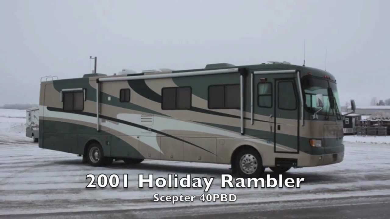 Used 2001 holiday rambler scepter 40pbd diesel rv for sale for Used diesel motor homes