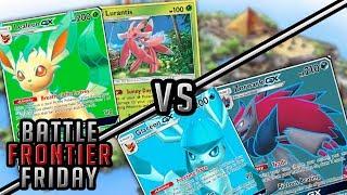 Leafeon/Lurantis vs Glaceon/Zoroark Pokemon TCG Matchup | Battle Frontier Friday #43
