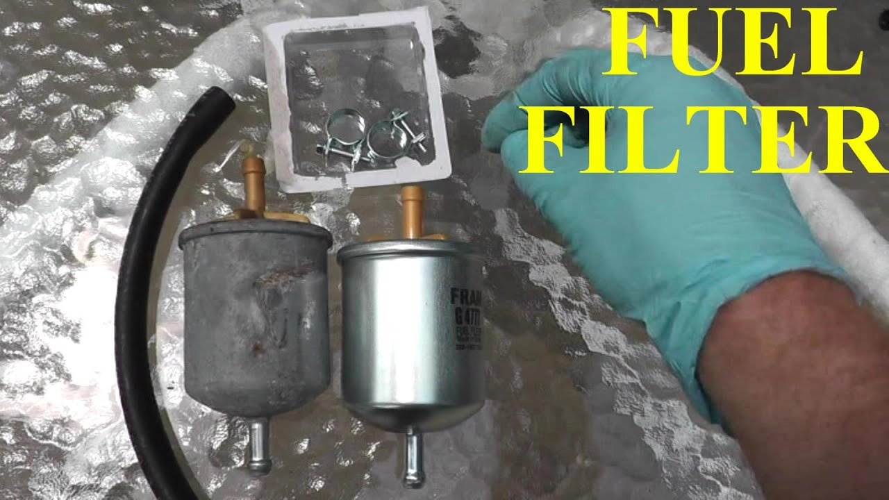 nissan maxima fuel filter replacement youtube