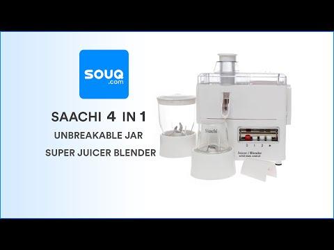 Saachi 4 In 1 Unbreakable Jar Super Juicer Blender Review On Souq.com