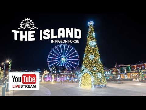 Tree Lighting Ceremony at The Island in Pigeon Forge - YouTube