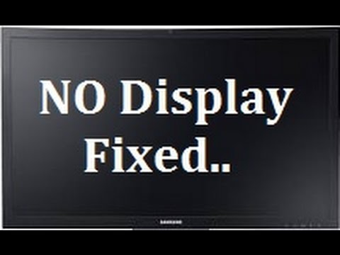 Computer turns on but no display on monitor Fixed ( Desktop Computer )