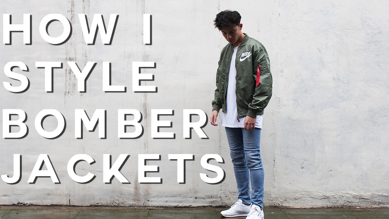 a524ea7da41 How To Style Bomber Jackets | FW16 (Nike MA1 Bomber) - YouTube
