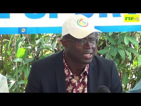Conférence de presse de Me Augustin Senghor  à la Maison de presse à Franceville