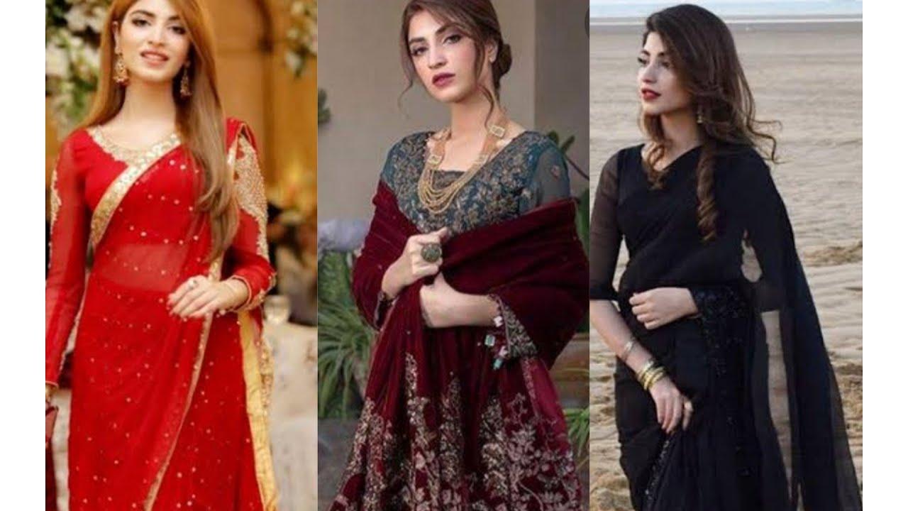 beautiful Pakistani actress kinza hasmi's beautiful dressing style & gorgeous makeup look ❤
