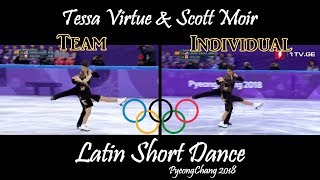 Tessa Virtue & Scott Moir - Latin Short Dance (Team & Individual Events) | PyeongChang 2018