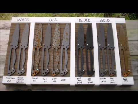 1095 Steel, Corrosion/Rust Test for Knife Makers