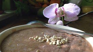Chocolat Porridge With Pear Sauce ~ Live Breakfast