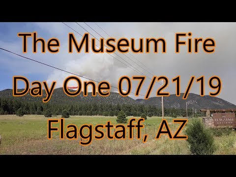 Day 1 Of The Museum Fire In Flagstaff, Arizona