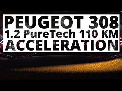 Peugeot 308 1.2 PureTech 110 KM (MT) - acceleration 0-100 km/h