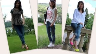 what I wear with boyfriend jeans Thumbnail