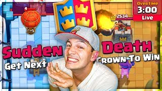 "THIS IS CRAZY! ""SUDDEN DEATH 2V2"" New Clash Royale Mode!"