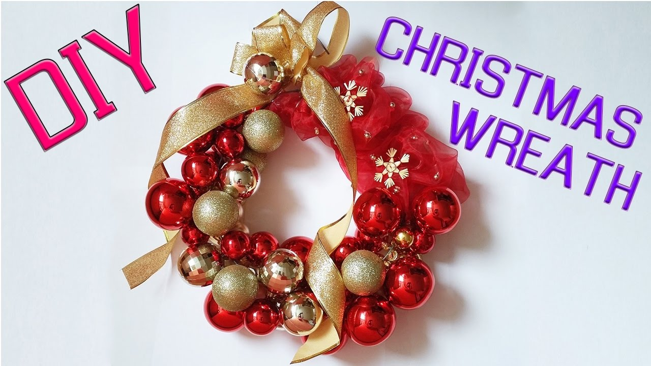 Diy How To Make Christmas Wreath From Balls Youtube