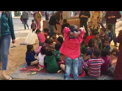 Helping hands team with Delhi slum kids & students-6