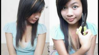 How to Cut Side Bangs with Regular Scissors Hair Tutorial l Cut Side Swept Bangs/Fringe at Home