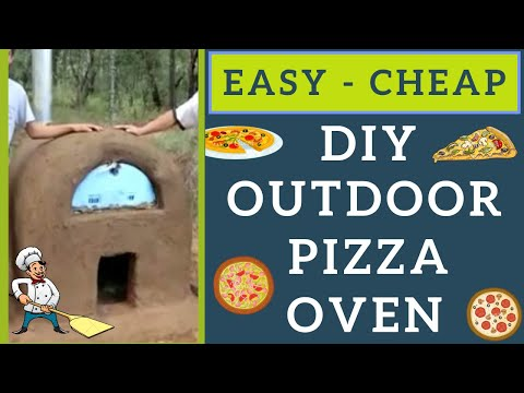 DIY (Easy) Homemade Cheap BRICK PIZZA OVEN - Step By Step