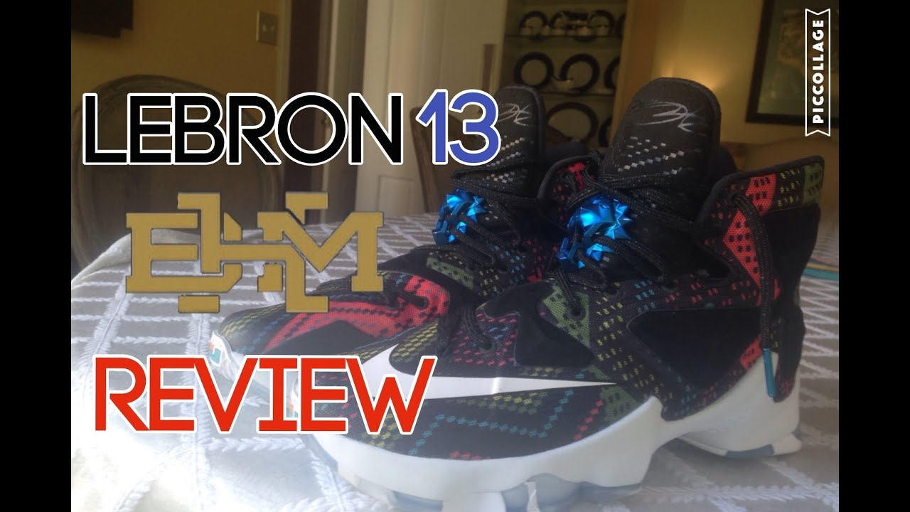 e66d397fc137 LEBRON 13 BHM (On Feet Review) - YouTube