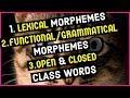 - Lexical Morphemes | Functional Morphemes | Grammatical Morphemes |  Open And Closed Class Words |
