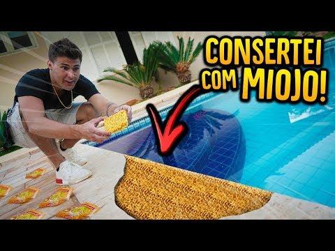 CONSERTEI A PISCINA DE CASA COM MIOJO!! [ REZENDE EVIL ]