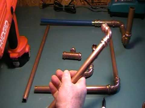 The Old plumber shows how to join copper fittings and pipe with new tool.