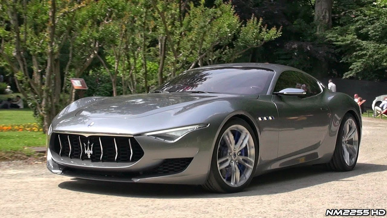 Maserati Alfieri Concept Amazing V8 Sound Youtube