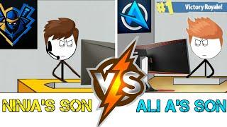 Ninja's son VS Ali A's son in the year 2050.