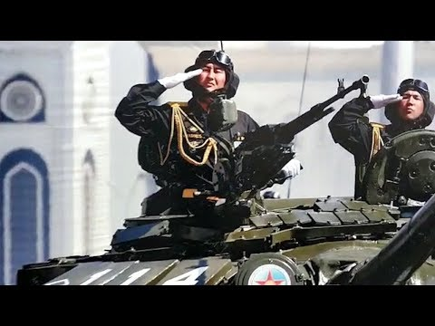 Почему на заборе военкомата в Бишкеке изображены казахские военные?