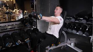 Seated Dumbbell Duel Front Raises