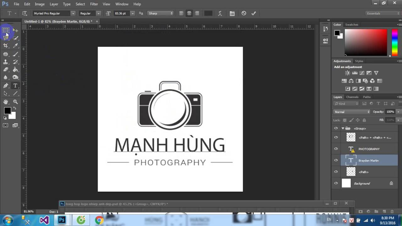 Hướng dẫn làm logo photography đơn giản | Aphoto
