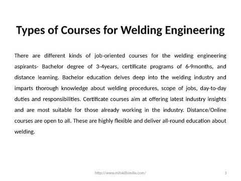 Develop a Career in Welding Engineering | Certificate Course in ...