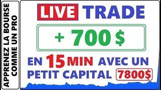 COMMENT FAIRE PLUS DE 700$ EN 15 MINUTES AVEC UN PETIT CAPITAL SANS LEVIER A LA BOURSE