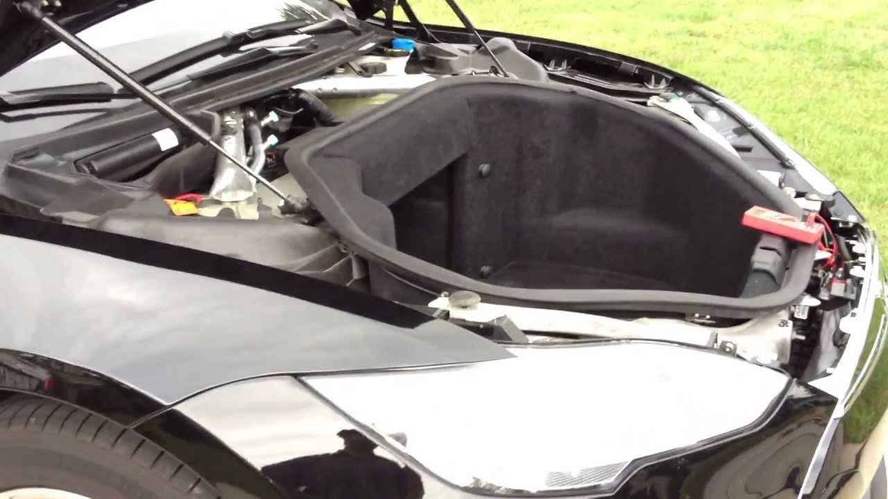 Tesla Motors Model S: Part 30 of Many! Under Hood Tare Down - YouTube