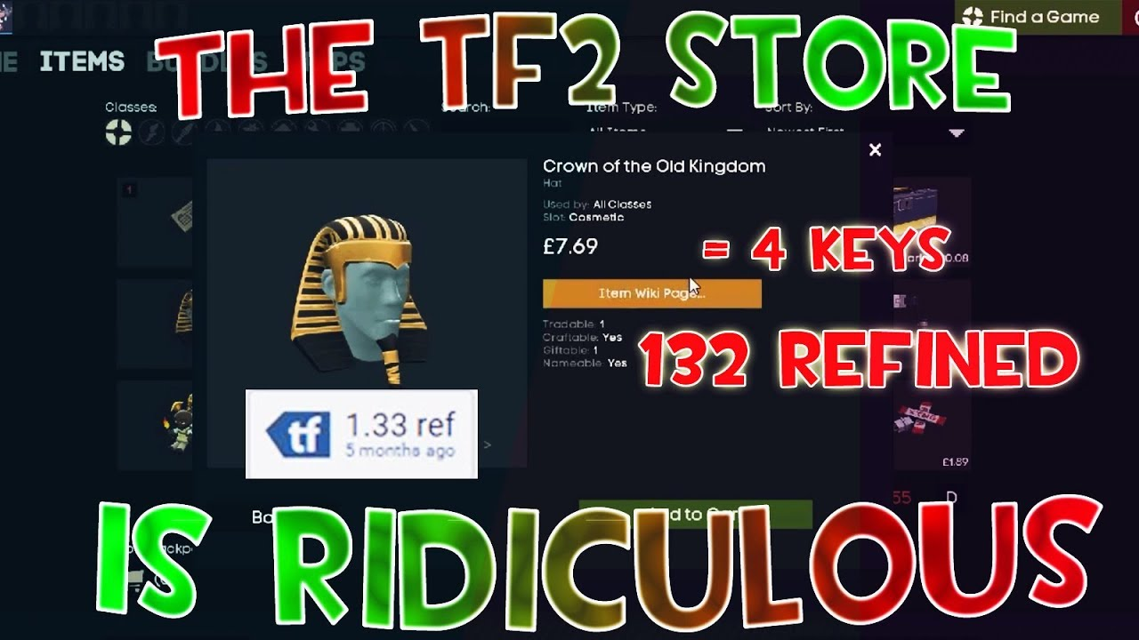 [TF2] The Mann Co Store Prices    (Absurd)