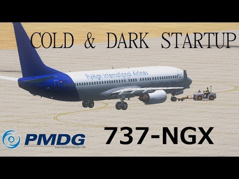 PMDG 737NGX Cold&Dark Startup [FullHD]
