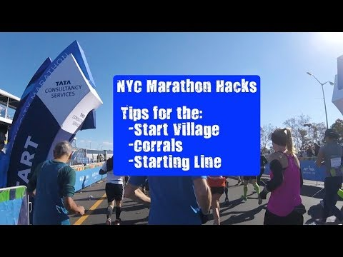 NYC Marathon Hacks: All the things about the start