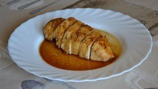 Куриная грудка с лимонным соусом в духовке