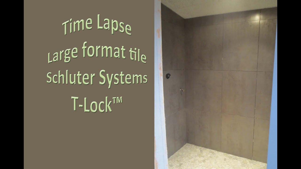 Large format tile shower, Shcluter Kerdi-Board, Glass ...