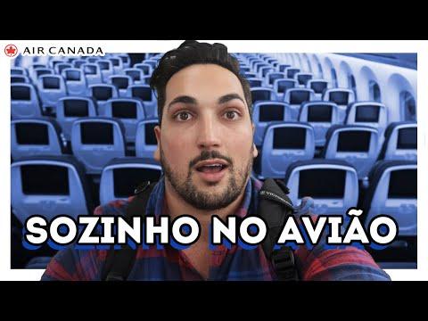 ENTREI SOZINHO No AVIÃO MAIS MODERNO Da AIR CANADA - DE SP A TORONTO Na EXECUTIVA Do 787 Dreamliner