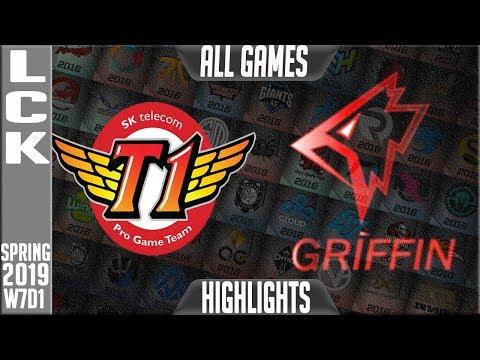 SKT vs GRF Highlights ALL GAMES | LCK Spring 2019 Week 7 Day 2 | SK Telecom T1 vs Griffin