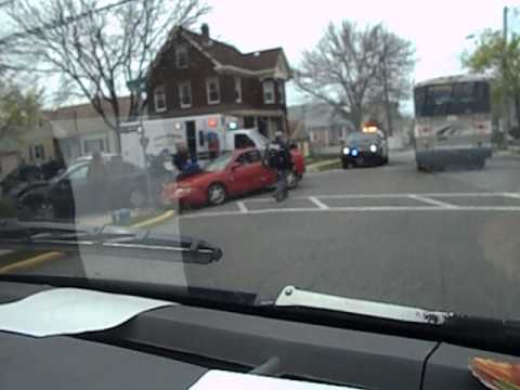 Car Accident at Town Wide Garage Sale in Carlstadt, NJ 4/20/13