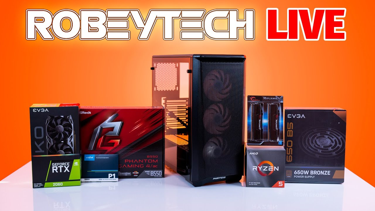 Download How to Build a PC - Robeytech LIVE - Giveaways + $1000 Build ( 3600x / 2060 KO)