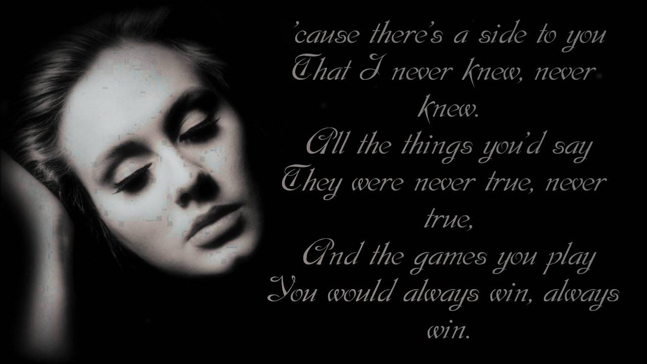 Adele - Right As Rain Lyrics | MetroLyrics