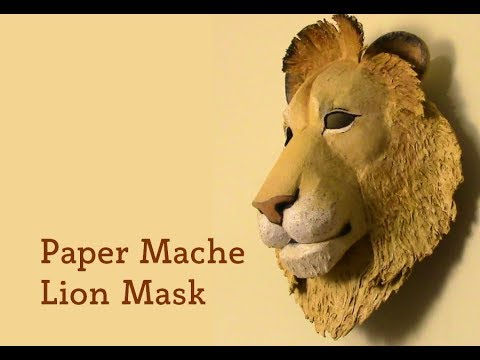 Lion Mask Pattern for Paper Mache