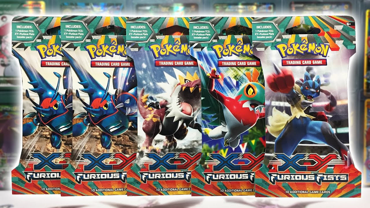 Hawlucha Ex Hunt 5x Furious Fists Booster Pack Opening Youtube