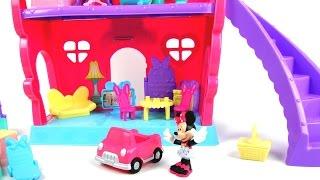 玩迪士尼 米妮老鼠  魔幻 甜美 豪宅 別墅 玩具開箱